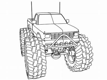 Coloring Truck Pages Monster Ford Chevy Lifted