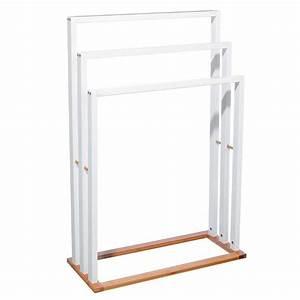 Porte Serviette En Bambou : porte serviettes 3 supports en bambou mdf maison fut e ~ Nature-et-papiers.com Idées de Décoration