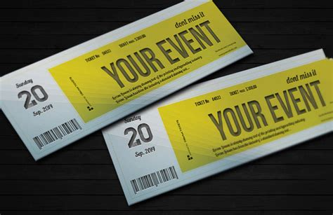 ticket invitation templates psd vector eps ai