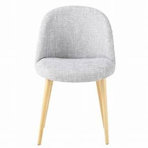 Tissu Gris Chiné : chaise vintage en tissu gris clair chin mauricette maisons du monde ~ Teatrodelosmanantiales.com Idées de Décoration