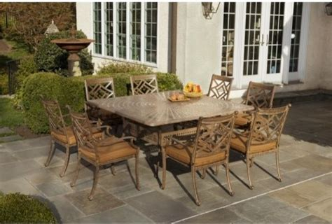 alfresco home sarasota cast aluminum 64 in square patio