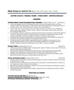 Personal Resume Template Sle Personal Trainer Resume 9 Exles In Word Pdf