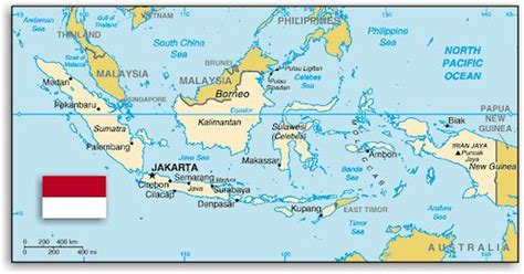 indonesia map  equator
