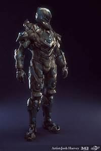 Halo 4 Armor Suit - Venator - Lowpoly Render by JoshEH ...