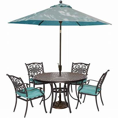 Patio Dining Umbrella Outdoor Piece Round Table