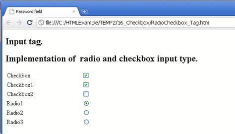 html and java script tutorials input type checkbox html5