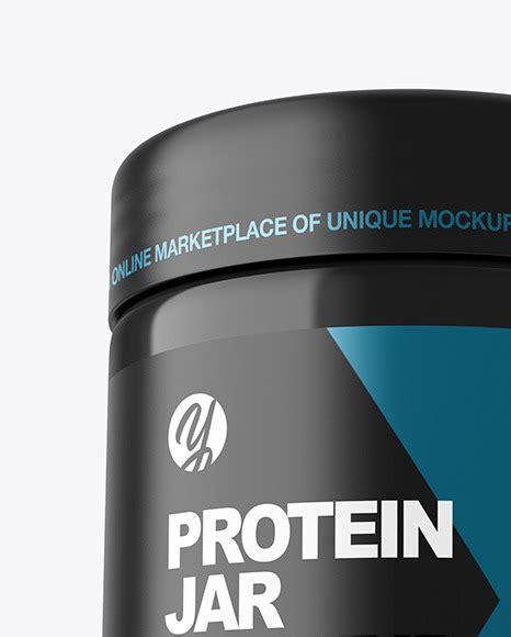 Fully editable 2 psd fles packaging mockup. دانلود موکاپ قوطی پروتئین Glossy Protein Jar Mockup 52097 ...