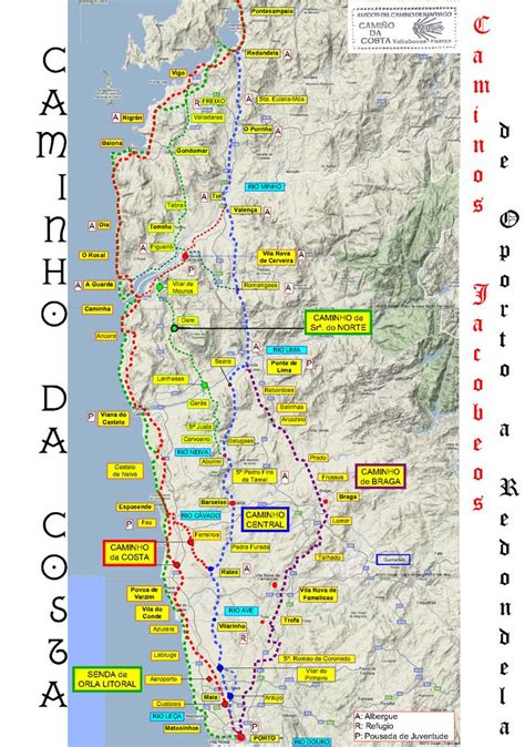 camino pilgrimage map camino de santiago costa de portugal mediavida