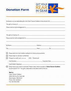 charity donation form template free printable documents With charity pledge form template