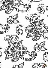 Paisley Coloring Pattern Pages Drawing Printable Tutorials Paper Getdrawings Styles sketch template