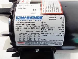 Marathon 3  4 Hp Electric Motor  Part  0155