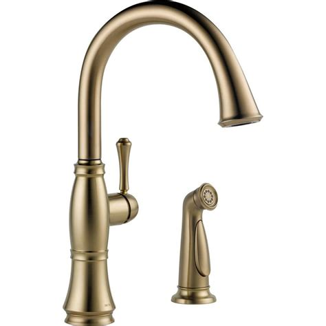 install kitchen faucet with sprayer delta cassidy single handle standard kitchen faucet with