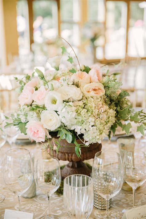 blush  ivory centerpiece elizabeth anne designs