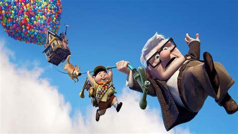 full hd wallpaper  cartoon balloon main characters fly