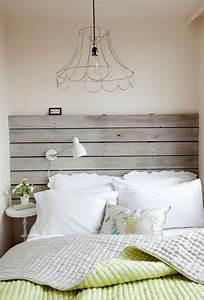 Schlafzimmer Lampen Design : diy ideen mit europaletten bettkopfteil selber bauen ~ Markanthonyermac.com Haus und Dekorationen