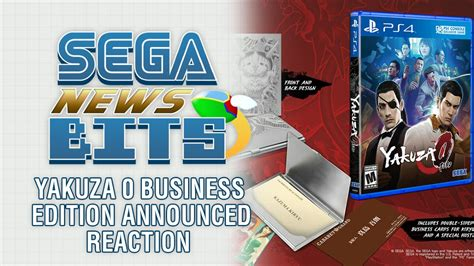sega news bits yakuza  business edition announced