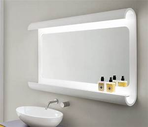 Specchiera da bagno, in legno curvato, con luce a led IDFdesign