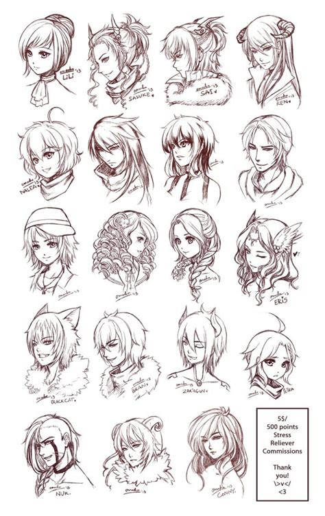 Anime Hairstyles by Inspiration Hair Expressions Drawing