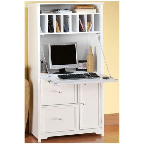Kitchen Drawers Ideas - home decorators collection oxford white secretary desk 5020700410 the home depot