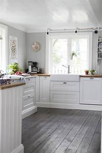 25 best ideas about grey kitchen floor on pinterest With kitchen colors with white cabinets with wood floor stickers