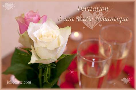 cartes virtuelles invitation soire romantique joliecarte