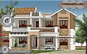 Latest, House, Models, In, India, With, Two, Storey, House, Design