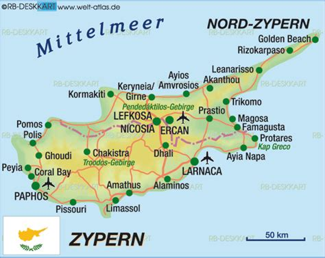 map  cyprus country welt atlasde