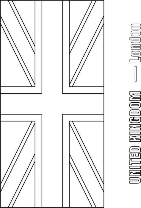 Free Union Jack Flag Outline Coloring Pages