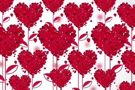blooming red rose heart wallpaper walls  murals
