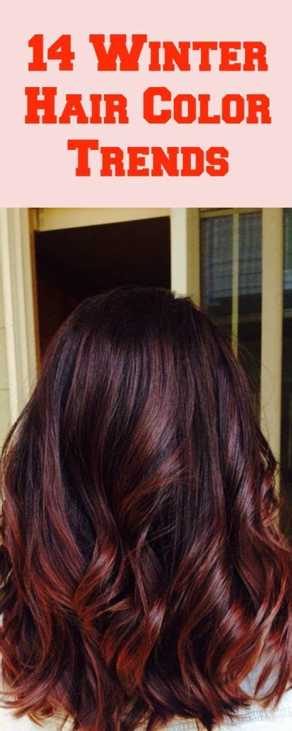 winter hair color trends    year