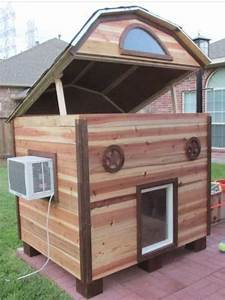 custom dog house dogs pinterest custom dog houses With small ac unit for dog house
