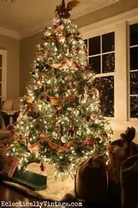 Gold Bead Curtain by Eight Elegant Christmas Tree Decor Ideas