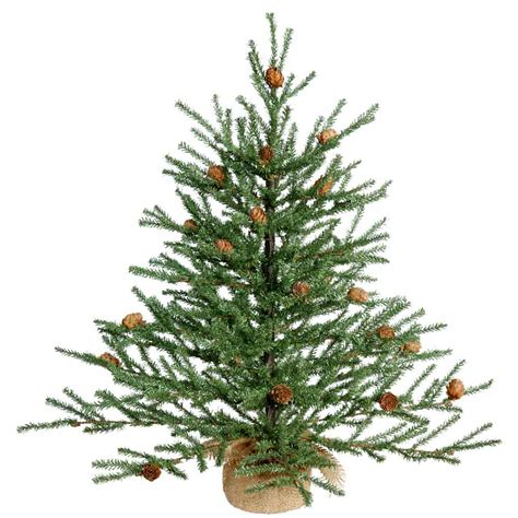 2 foot carmel christmas tree with cones unlit b803921