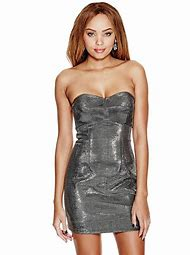 Metallic Strapless Dress