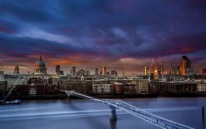 Bridge Millennium London St Paul Thames River