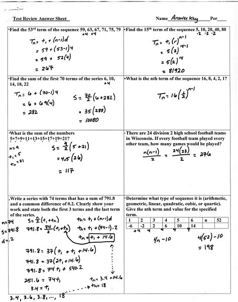 arithmetic and geometric sequences word problems worksheet answers free printables worksheet