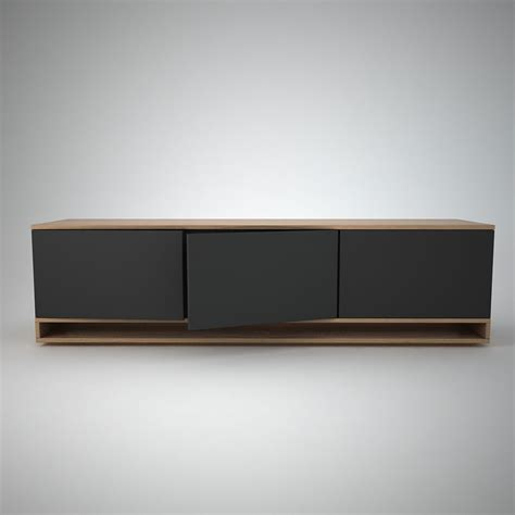 Low Sideboard by Harlem Low Sideboard 3 Anthracite Join Furniture
