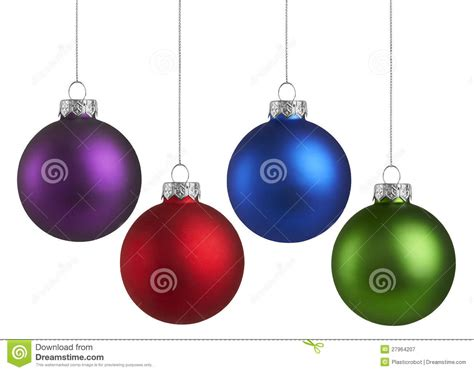 colorful christmas ornaments royalty free stock