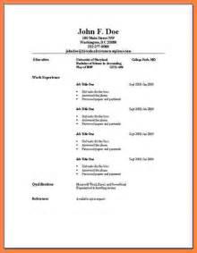 basic resume template 2017 5 exle of simple curriculum vitae bussines 2017