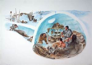INUIT family life. Book illustration by Frédéric Back for ...