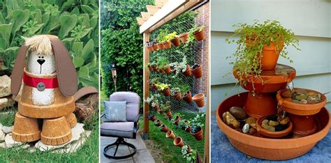 Garden Decoration Pots by 17 Budget Friendly And Garden Projects Made With