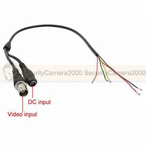 video 15mm and 2mm caliber to line code cable 5 cords for With cctv wiring
