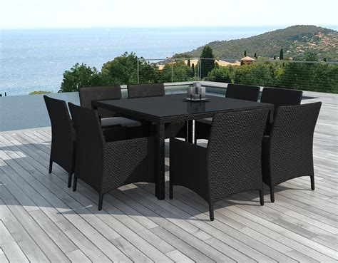 table 4 chaises emejing table et chaise de jardin noir ideas awesome