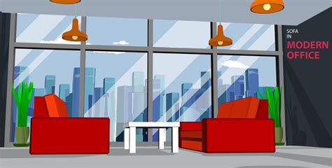 sofa room vector two red sofas in the meeting room vector free download