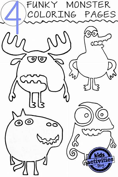 Coloring Monster Pages Funky Activities Crazy Colouring