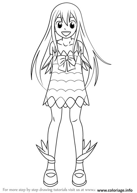 coloriage   draw wendy marvell  fairy tail step