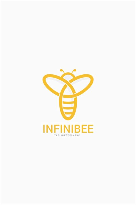infinity bee logo template logo template