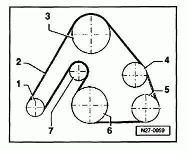 Vw Passat Alternator Diagram by 1998 2005 Volkswagen Passat V6 2 8l Serpentine Belt