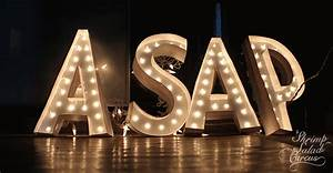lighted marquee letter tutorial With big letters with lights