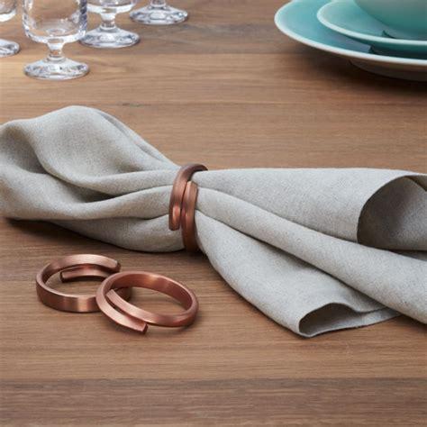 wrap copper napkin ring crate  barrel